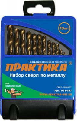 Набор сверл ПРАКТИКА 031-297 металл 13шт.: 1.5-6.5мм, в мет.кассете, Сделай Сам набор сверл практика 031 297 металл 13шт 1 5 6 5мм в мет кассете сделай сам