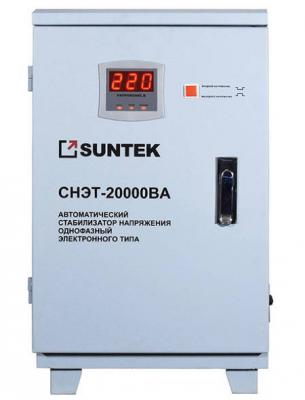 Стабилизатор напряжения SUNTEK SR20000 20000ВА стабилизатор напряжения suntek 16000 ва нн 16000 вт погрешность 8% выходное напр 209 231 в