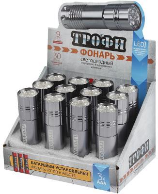 Фонарь ТРОФИ TM9-box12 9xLED батареечный 3xAAA