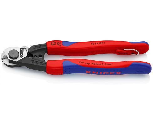 Тросорез KNIPEX 9562190 190мм кабельный ручки с двухкомпонентными чехлами тросорез knipex kn 9561190