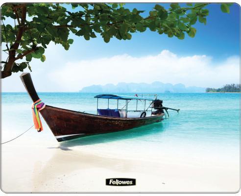 Коврик для опт/мыши Пляж, Fellowes®, нескользящее основание, трехслойная технология Brite (вечные), , шт