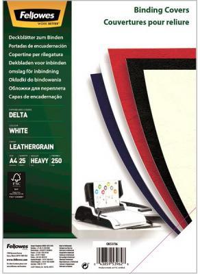 Фото - Обложка Delta A4 Fellowes. Цвет: белый, 25 шт, тиснение под кожу, шт обложка картонная глянец a4 250 г м2 красный 100 шт