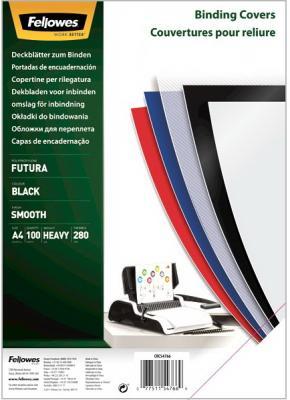 Фото - Обложка Futura А4 Fellowes. Цвет: черный, 100 шт., полипропилен, шт fellowes ручка шариковая на подставке синяя цвет корпуса черный