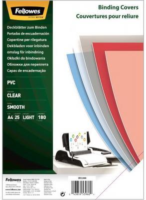 Обложка Transparent А4 Fellowes, 180 мкм, 25шт, прозрачный, pvc, шт