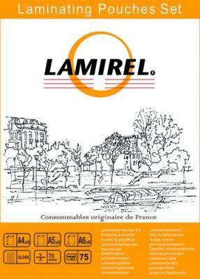 Фото - Пленка для ламинирования Lamirel, набор А4, A5, A6 по 25 шт., 75 мкм, 75 шт. в упаковке, шт набор ароматический serenity сладкий крем natural 3 шт