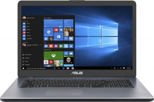 ASUS X705UB-GC309T 17.3(1920x1080 (матовый))/Intel Core i5 8250U(1.6Ghz)/4096Mb/1000Gb/noDVD/Ext:nVidia GeForce MX110(2048Mb)/Cam/BT/WiFi/war 1y/2.1kg/grey/W10 asus flip ux561un bo056t touch 15 6 1920x1080 touch intel core i5 8250u 1 6ghz 8192mb 512ssdgb nodvd ext nvidia geforce mx150 2048mb cam bt wifi war 2y 1 9kg pure silver w10