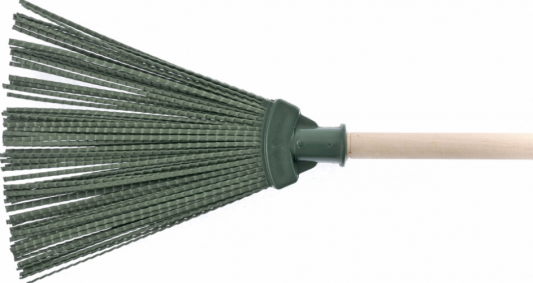 Метла СИБРТЕХ 63227 полипропиленовая 270 х 260мм веерная с черенком метла сибртех веерная распушенная 63221 зеленый черный