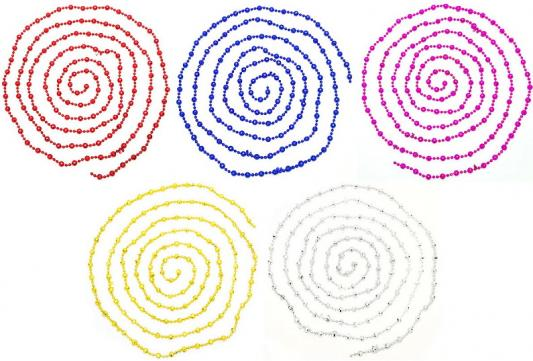 Украшение елочное бусы ГРАНИ, 270 см, 5 цв, пластик, 1 шт в пакете. цена и фото