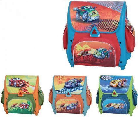 Ранец школьный CRAZY DRIVING ,разм.39 х41х23 см ,4 дизайна в ассортименте, для мальчиков