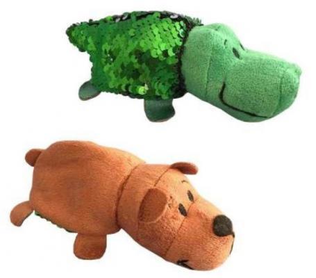 Мягкая игрушка вывернушка 1toy Крокодил-Медведь плюш зеленый коричневый 12 см мягкая игрушка медведь ty мишка brownie плюш коричневый 25 см 90222
