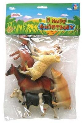 Купить Набор животных 1toy В мире животных 15 см, Детские фигурки