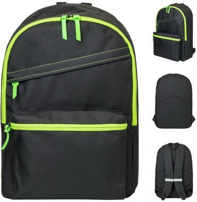 Купить Рюкзак ACTION, разм. 45х30х12 см, городской, черный, мягкая спинка, унисекс, Action!, Рюкзаки