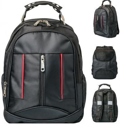 Купить Рюкзак ACTION, размер 39*28*11, 5 см, городской, черный, мягкая спинка, унисекс, Action!, Рюкзаки