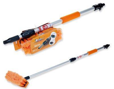 Щётка Airline AB-H-04 швабра с насадкой для шланга щеткой 20см и телескопической ручкой 100см аптечка airline am 04
