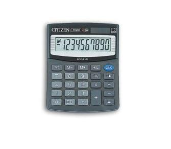 Калькулятор настольный Citizen малый 10-разрядный черный citizen citizen at8126 02e