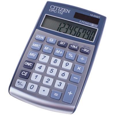 Калькулятор карманный Citizen калькулятор 12-разрядный серебристый