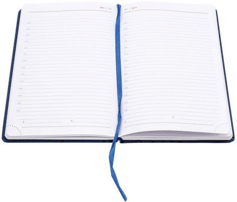 ежедневник датированный 2018 index agent кожзам линия а5 168 листов коричневый Ежедневник Index Line недатиров., ф. А5, кожзам, лин, перф.угла, ляссе, 352с, синий
