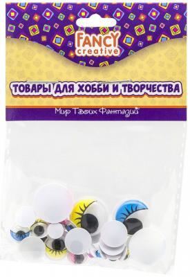 Фото - Глаза c ресницами декоративные цветные, ассорти, 24 шт., п/п с е/п глаза декоративные цветные d 6 mm 60 шт в блист