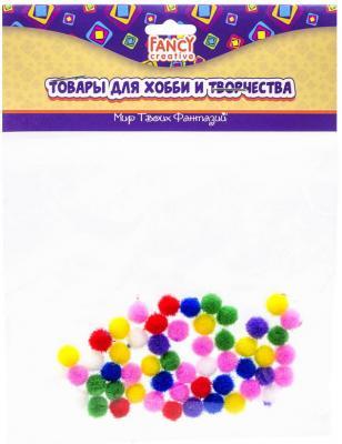 Помпоны 50 шт, 7 цветов, диаметр 8 мм, п/п с е/п кпб п 8