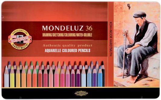 Набор акварельных карандашей Koh-i-Noor Mondeluz 36 шт 175 мм акварельные набор угольных карандашей koh i noor gioconda 3 шт
