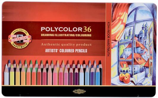 Набор цветных карандашей Koh-i-Noor Polycolor 36 шт 175 мм