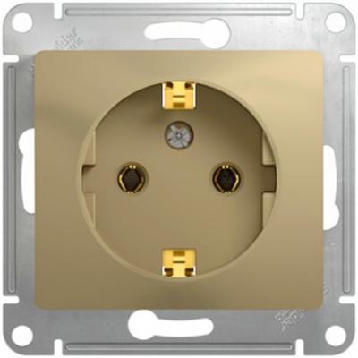 Механизм розетки SCHNEIDER ELECTRIC GSL000443 glossa 1-м СП 16А с заземл. титан цены