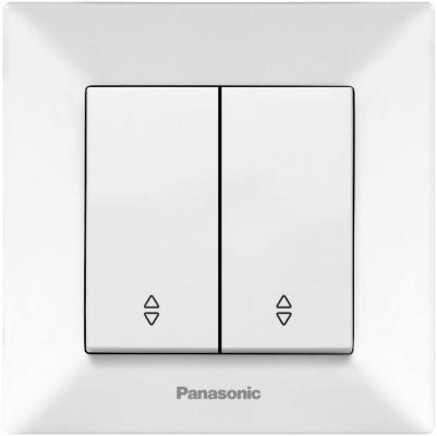 Переключатель PANASONIC WMTC0011-2WH-RES Arkedia 2кл проходной белый
