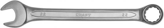 Ключ комбинированный KRAFT КТ 700516 (22 мм) хром-ванадиевая сталь (Cr-V) ключ комбинированный kraft 16 мм кт 700510