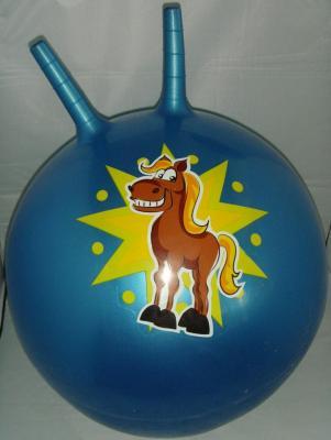 Мяч гимнастический с рожками 55 см, в ассорт., в/п гимнастический мяч original fit tools с массажным эффектом 55 см