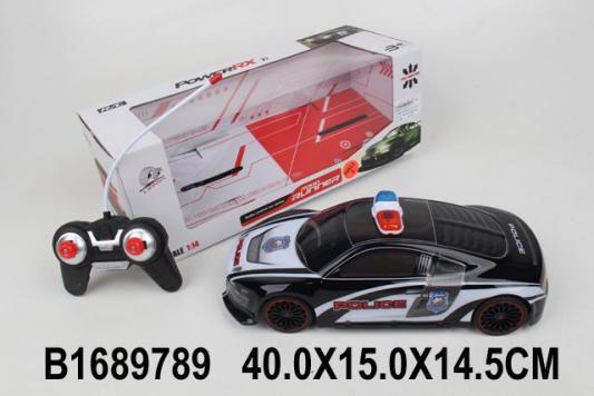 Машинка на радиоуправлении best toys Полиция пластик, металл от 3 лет черный