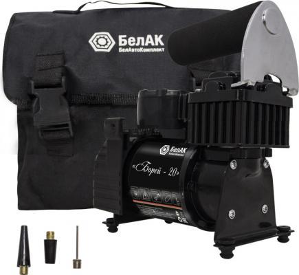 Компрессор БелАК Борей-20 12 V 35 л/мин для накачки шин автомобильный компрессор с пылесосом zipower pm 6510 15л мин