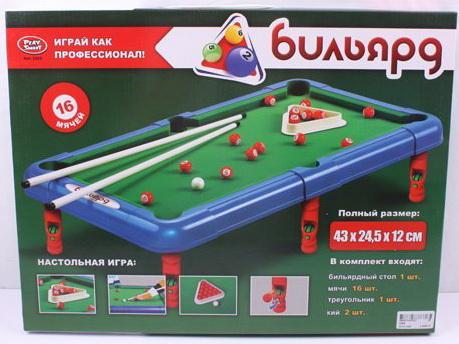 Настольная игра Бильярд в комплекте: стол,мячи,треугольник,кий в/к 51*38*4 см настольная игра best toys бильярд бильярд