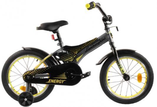 Купить Велосипед Lamborghini Lamborghini Energy 16 серый/черный, Двухколесные велосипеды для детей
