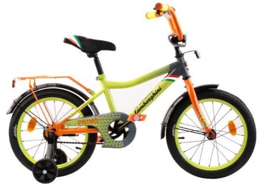 Купить Велосипед Lamborghini 16 зеленый, Двухколесные велосипеды для детей