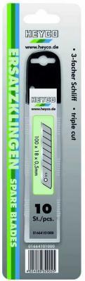 Лезвие для ножа HEYCO HE-01664101000 запасные лезвия к ножу 18мм 10 штук лезвие для ножа matrix 793555 лезвия 18мм трапециевидные прямые 5 шт 78924 78900 78964 78967