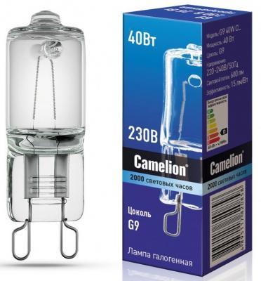Лампа галогенная CAMELION 5553 40Вт капсула G9 2850К 240В прозр.
