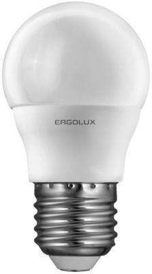 Лампа светодиодная ERGOLUX 12145 LED-G45-7W-E27-4K Шар 7Вт E27 4500K 172-265В ergolux led c35 7w e14 3k эл лампа светодиодная свеча 7вт e14 3000k 172 265в
