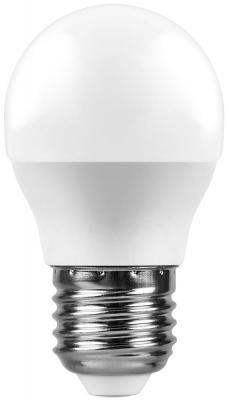 Лампа светодиодная шар FERON 25806 E27 9W 6400K feron лампа люминесцентная feron линейная матовая g5 6w 6400k 03010