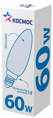 Лампа накаливания КОСМОС 60 Ватт, свеча матовая Е27 свеча накаливания denso dg110