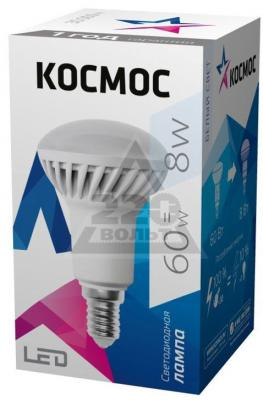 Лампа светодиодная рефлекторная КОСМОС 285301 E14 8W 3000K цена и фото