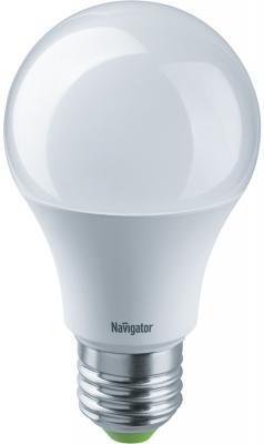 лампа светодиодная e27 7w 6500k груша матовая 4690389085499 Лампа светодиодная груша Navigator NLL-A60-7-24/48-4K-E27 E27 7W 4000K 61474