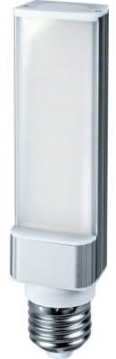 Лампа светодиодная цилиндрическая Navigator NLL-PL-8-230-4K-E27 E27 8W 4000K лампа светодиодная e27 8w 4000k груша матовая le gls 8 e27 840 l161