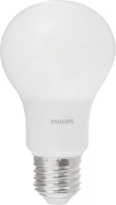 лампа светодиодная e27 10w 6500k груша матовая 4690389085550 Лампа светодиодная груша Philips Б0039326 E27 4W 6500K