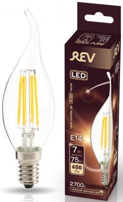 купить Лампа светодиодная свеча на ветру Rev ritter 32432 4 E14 7W 2700K по цене 180 рублей