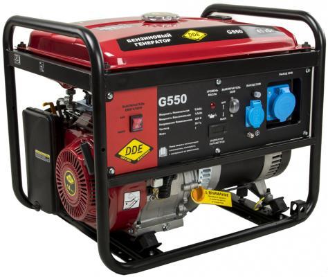 Генератор бензиновый DDE G550 (917-408) 1ф 5,0/5,5 кВт бак 25 л 80 кг дв-ль 13 л.с. цена 2017