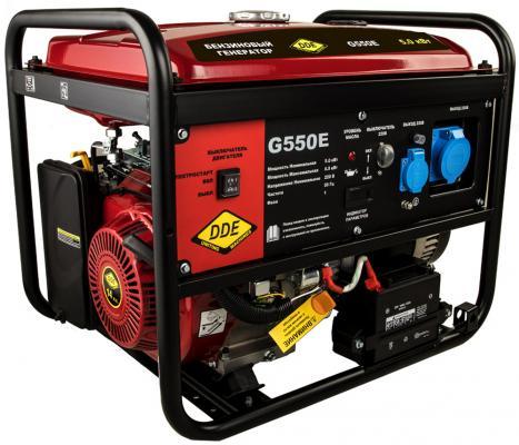Генератор бензиновый DDE G550E (917-415) 1ф 5,0/5,5 кВт бак 25 л 80 кг дв-ль 13 л.с. элстарт генератор инверторного типа dde dpg1001si