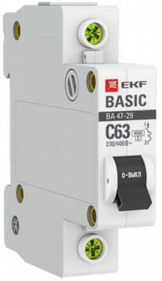 Автомат EKF mcb4729-1-16C 1п c 16а ва 47-29 4.5ка basic ограничитель ekf opv d1