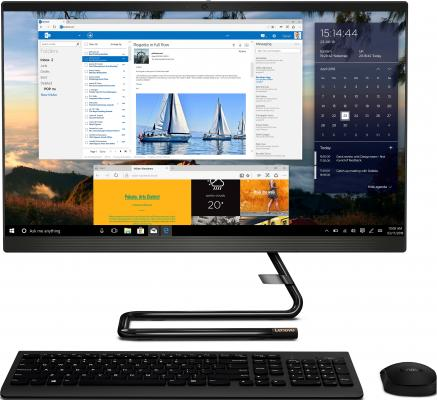 Моноблок Lenovo IdeaCentre A340-24IWL 23.8 Full HD i5 8256U (1.6)/8Gb/1Tb 5.4k/SSD128Gb/530 2Gb/DVDRW/CR/Windows 10 Home Single Language/GbitEth/WiFi/BT/90W/клавиатура/мышь/Cam/черный 1920x1080 моноблок lenovo ideacentre a340 22icb 21 5 full hd i5 8400t 1 7 4gb 1tb 5 4k uhdg 630 dvdrw cr windows 10 home single language gbiteth wifi bt 90w