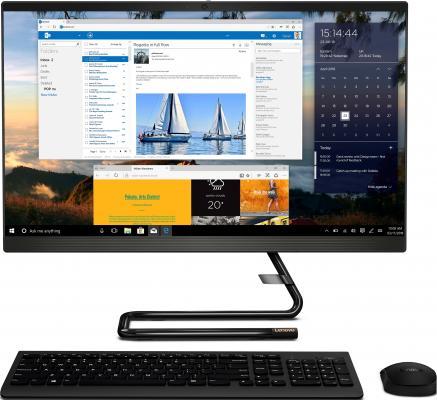 Моноблок Lenovo IdeaCentre A340-24IWL 23.8 Full HD i5 8256U (1.6)/8Gb/1Tb 5.4k/SSD128Gb/530 2Gb/DVDRW/CR/Windows 10 Home Single Language/GbitEth/WiFi/BT/90W/клавиатура/мышь/Cam/черный 1920x1080 моноблок lenovo ideacentre aio 910 27ish 27 full hd i5 7400t 2 4 8gb 1tb gt940a 2gb windows 10 gbiteth wifi bt клавиатура мышь cam серебристый