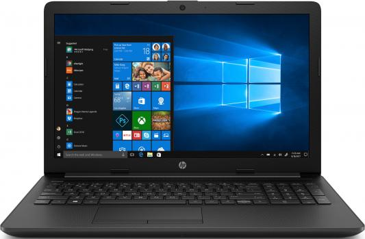 Ноутбук HP15 15-da0406ur 15.6 FHD, Intel Core i3-7020U, 4Gb, 128Gb SSD, no ODD, Win10, черный ноутбук prestigio smartbook 141 c2 intel n3350 4gb 32gb ssd 14 1 win10 slate grey